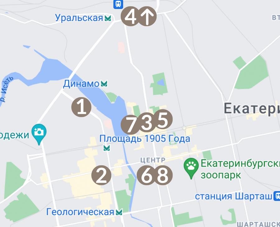 туристическая карта отеля онегин